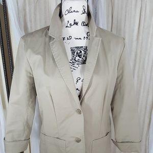 Eddie Bauer khaki jacket 12 neutral capsule